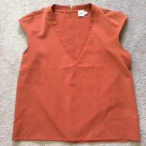 ASOS exposed zipper top, sz 12. V-neck, sleeveless